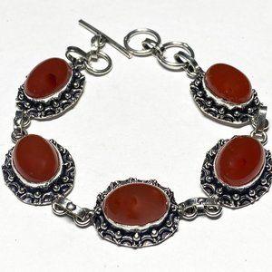 Natural Carnelian Gemstone Bracelet